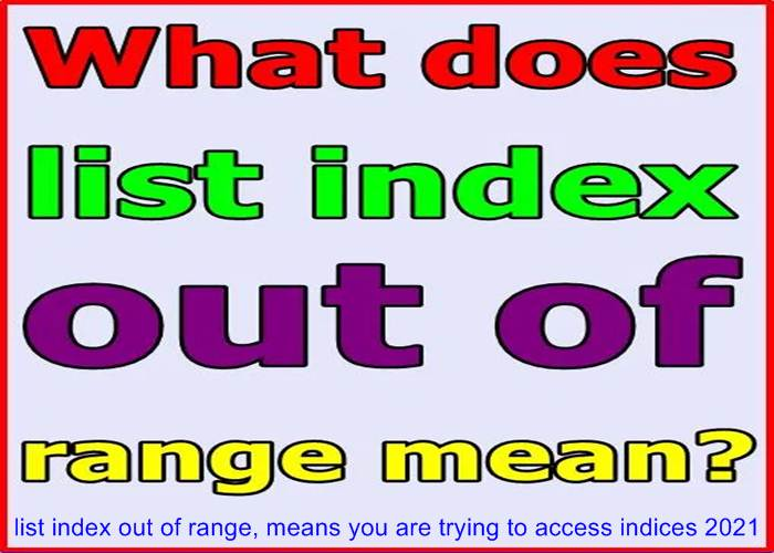list index out of range