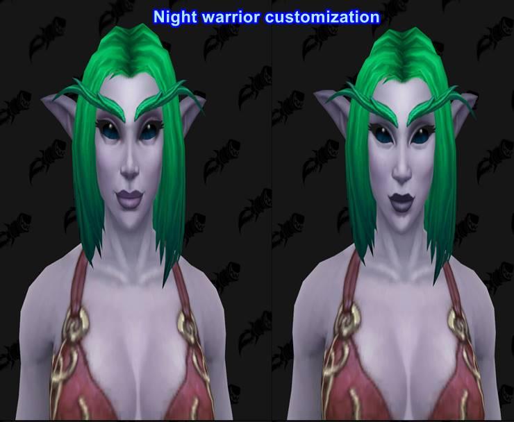 Night warrior customization