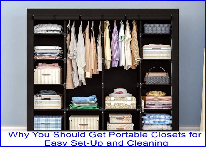 Portable Closets for Easy Set-Up and Cleaning